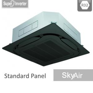 AC Daikin Cassette - Harga AC Daikin - Jual AC Daikin - SkyAir R32 - Roundflow Inverter Standar Black